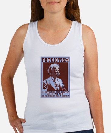 Twain - Patriotism Women's Tank Top