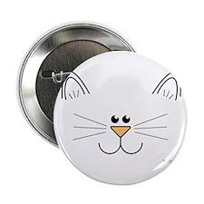 "Cute Kitty Face 2.25"" Button"