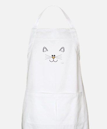 Cute Kitty Face BBQ Apron