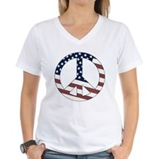US Flag-Peace Sign-vintage lo Shirt