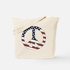 US Flag-Peace Sign-vintage lo Tote Bag