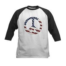 US Flag-Peace Sign-vintage lo Tee