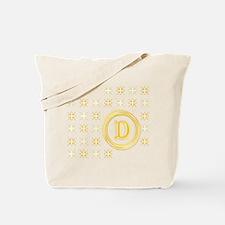 "Monogrammed ""D"" Tote Bag"
