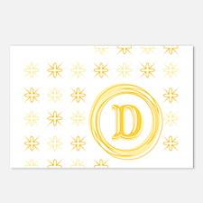 "Monogrammed ""D"" Postcards (Package of 8)"