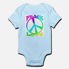 psychedelic peace sign Infant Creeper