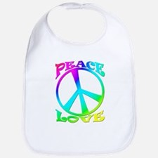 psychedelic peace sign Bib