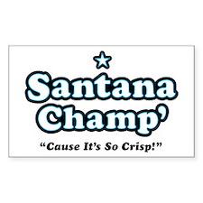 'Champ' so Crisp Rectangle Decal