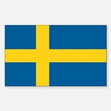 Swedish Flag Rectangle Decal