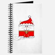 Christmas Kitty Cat Journal