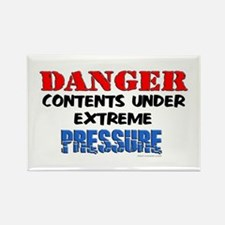 Danger! Contents... Rectangle Magnet