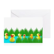 Ducks in Sushi Grass Greeting Cards (Pk of 10)