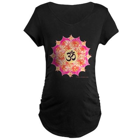 Aum (Om) Yoga Maternity Dark T-Shirt