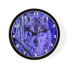Night Warrior Wolf Wall Clock