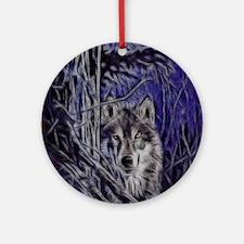 Night Warrior Wolf Ornament (Round)