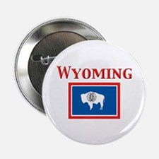 "Wyoming State Flag 2.25"" Button"