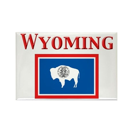 Wyoming State Flag Rectangle Magnet (10 pack)