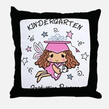 Kindergarten Graduation Princess Throw Pillow