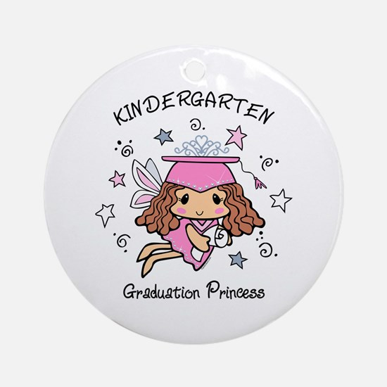 Kindergarten Graduation Princess Round Ornament