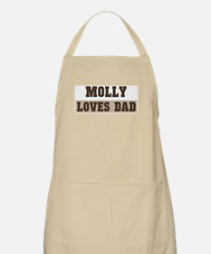Molly loves dad BBQ Apron