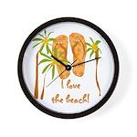 Flip Flops Beach Wall Clock