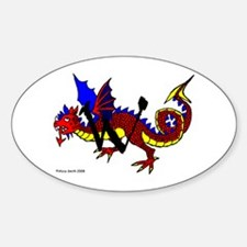 W is for Wyvern Oval Decal