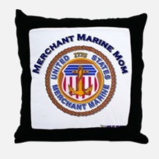 Merchant marine Mom Throw Pillow