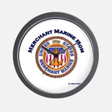 Merchant marine Mom Wall Clock
