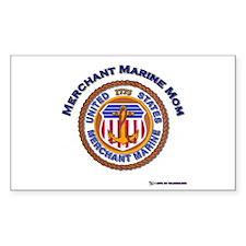 Merchant marine Mom Rectangle Decal