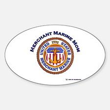 Merchant marine Mom Oval Decal