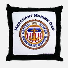 Merchant Marine Dad Throw Pillow