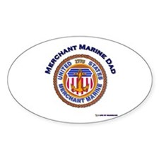 Merchant Marine Dad Oval Bumper Stickers