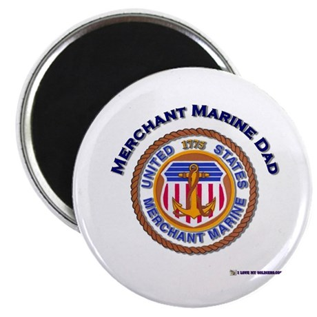 "Merchant Marine Dad 2.25"" Magnet (100 pack)"