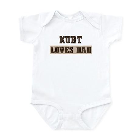Kurt loves dad Infant Bodysuit