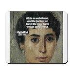 Wisdom of Greece: Hypatia Mousepad