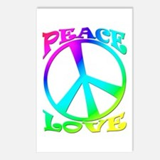 psychedelic peace symbol Postcards (Package of 8)