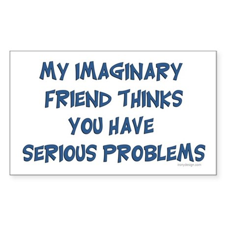 Imaginary Friend Rectangle Sticker