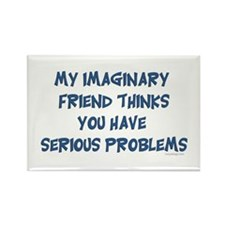 Imaginary Friend Rectangle Magnet