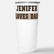 Jenifer loves dad Stainless Steel Travel Mug