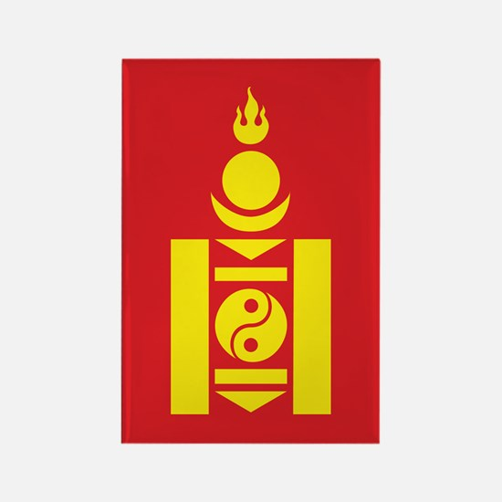 Mongol Emblem Rectangle Magnet