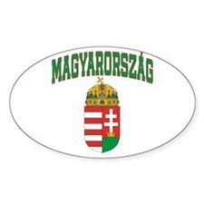 Hungary Oval Decal
