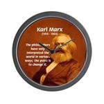 Power of Change Karl Marx Wall Clock