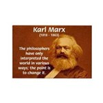 Power of Change Karl Marx Rectangle Magnet
