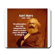 Power of Change Karl Marx Mousepad