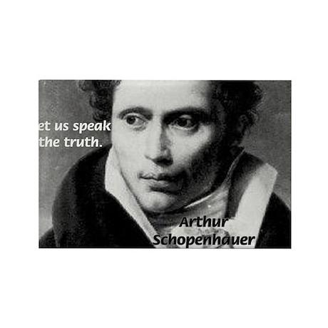 Schopenhauer Philosophy Truth Rectangle Magnet