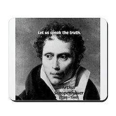 Schopenhauer Philosophy Truth Mousepad