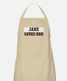 Jake loves dad BBQ Apron