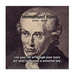 Universal Law: Kant Tile Coaster