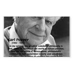 Open Society: Karl Popper Rectangle Sticker