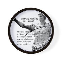 Universe: Marcus Aurelius Wall Clock