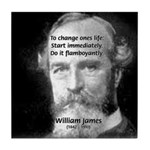 William James Life and Change Tile Coaster